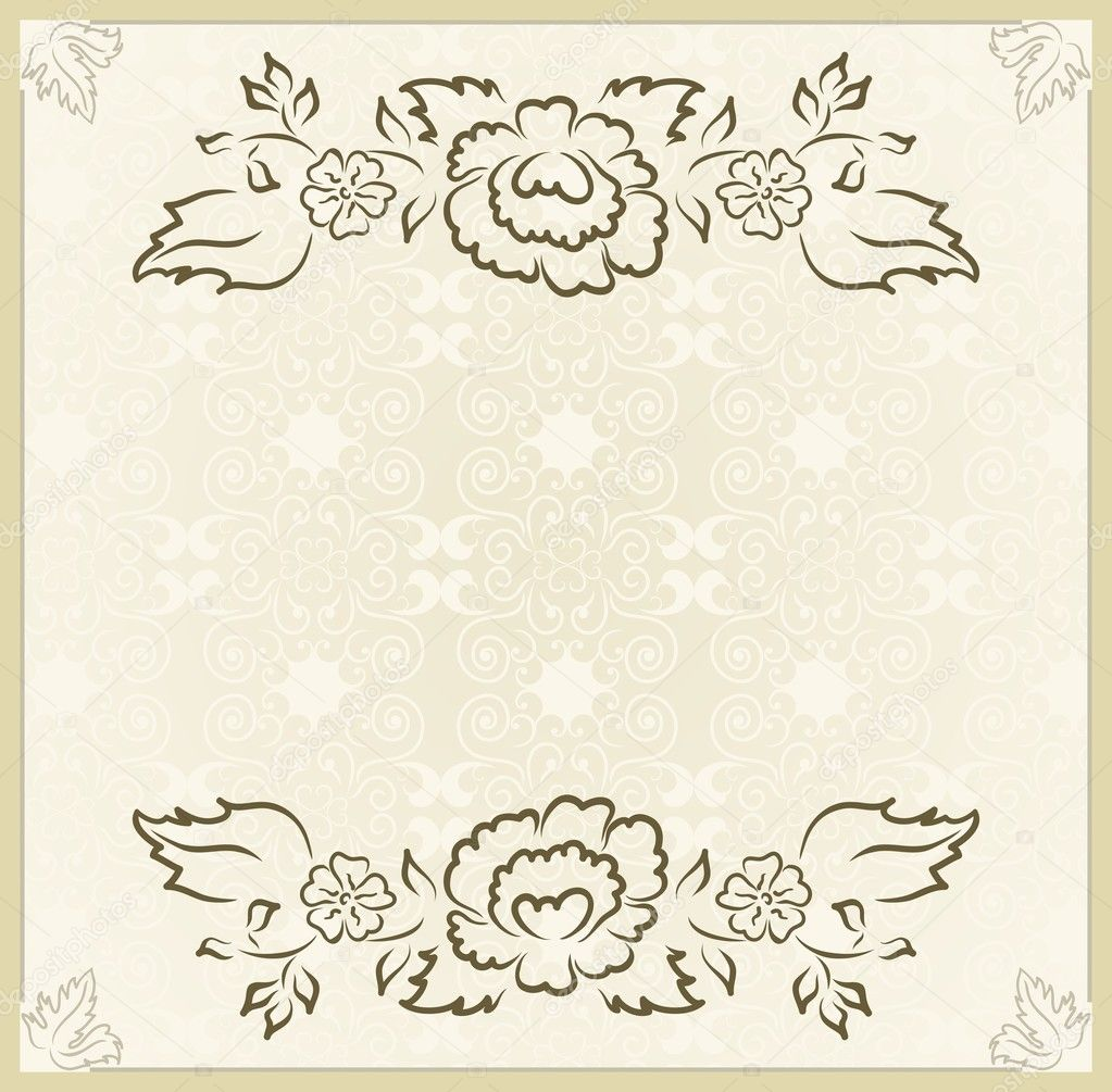 Vintage design for wedding card — Stock Vector © smeagorl #