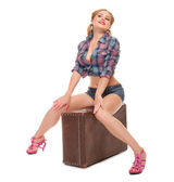 Pinup portrait of young woman — Stock Photo