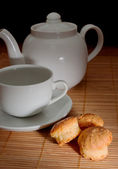 Tea and teapot — Stock Photo