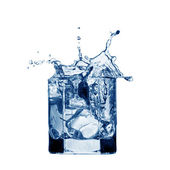 Water splash on glass — Stock Photo