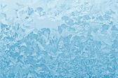 Blue frozen glass winter — Stock Photo