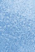 Blå frysta glas vinter — Stockfoto