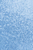 Blue frozen glass winter — Stock Photo