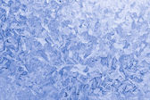 Frozen glass winter background — Stock Photo