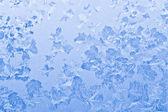 Frozen glass winter background — Stock Photo