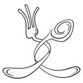 Cutlery symbol — Stock Vector