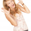 Excited girl — Stock Photo