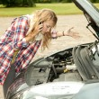 Trouble with car — Stock Photo