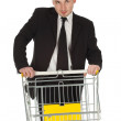 Businessman and shopping cart — Stock Photo #6768318