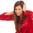 Young woman with headache — Stock Photo #6837756