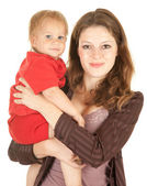 Mother's love, attachment and protection — Stock Photo
