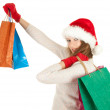 Royalty-Free Stock Photo: Christmas girl with shopping bags