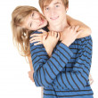 Stock Photo: Young couple embracing