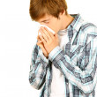 Flu or allergies — Stock Photo