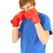 Royalty-Free Stock Photo: Man in boxing gloves