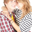 Young couple embracing — Stock Photo #6915183
