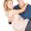 Boyfriend carrying girl in his arms — Stock Photo #6915196