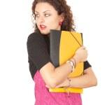 przerażona kobieta studenta — Zdjęcie stockowe