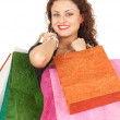 Girl with shopping bags — Photo