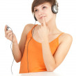 Girl in headphones — Stock Photo #6915676
