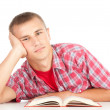 Male student with book — Stockfoto