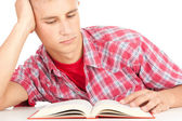 Male student with book — Stock Photo