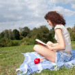 Reading young woman — Stock Photo #7094824