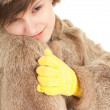 Girl in a fur coat and hat — Stock Photo #7096035