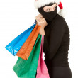 Thief with stolen shopping bags — Stock Photo #7096843