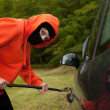 Car burglary, serie — Stockfoto