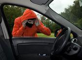 Car burglary, serie — Stock Photo