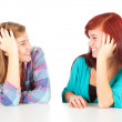 Talking female friends — Stock Photo