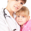 Family doctor on a home visit — Stock Photo #7280789
