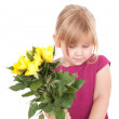 Little girl with flowers — Stock Photo #7280863