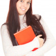 Stock Photo: Girl with red book
