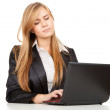 Working on laptop business woman — Stock Photo #7281906