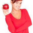 Stock Photo: Healthy lifestyle - girl with apple
