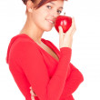 Healthy lifestyle - girl with apple — Stock Photo #7326273