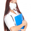 Lady doctor with clipboard — Stock Photo #7326300