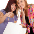 Girls with shopping bags — Stock Photo #7326430