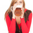 Girl with the mug of beer — Stock Photo #7326687