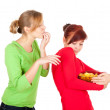 Teenage female friends and chips — Stock Photo #7326745
