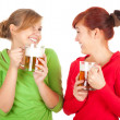 Girls friends with beer - Stock Photo
