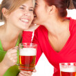 Girls friends with beer — Stock Photo #7326757