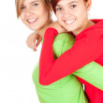 Hugging female friends — Stock Photo #7326759