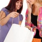 Девушки с сумки — Стоковое фото