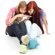 Female friends with cat — Stock Photo #7326773