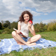 Reading young woman — Stock Photo #7326812