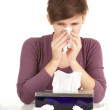 Sick girl with flu - Foto Stock