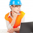 Royalty-Free Stock Photo: Female architect engineer at work